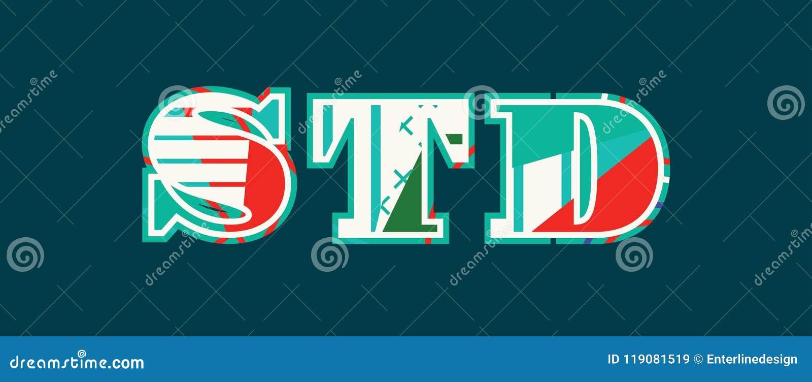 Palavra Art Illustration do conceito do STD