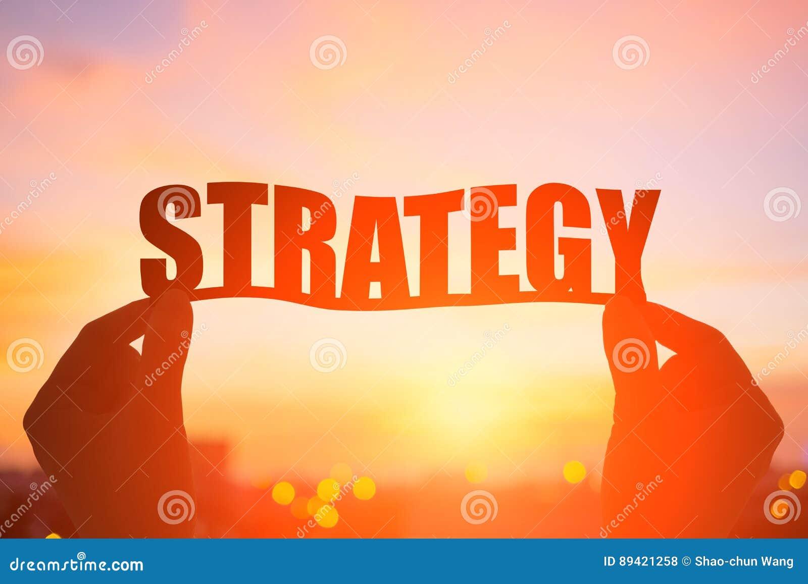 Palavra da estratégia da tomada da mão