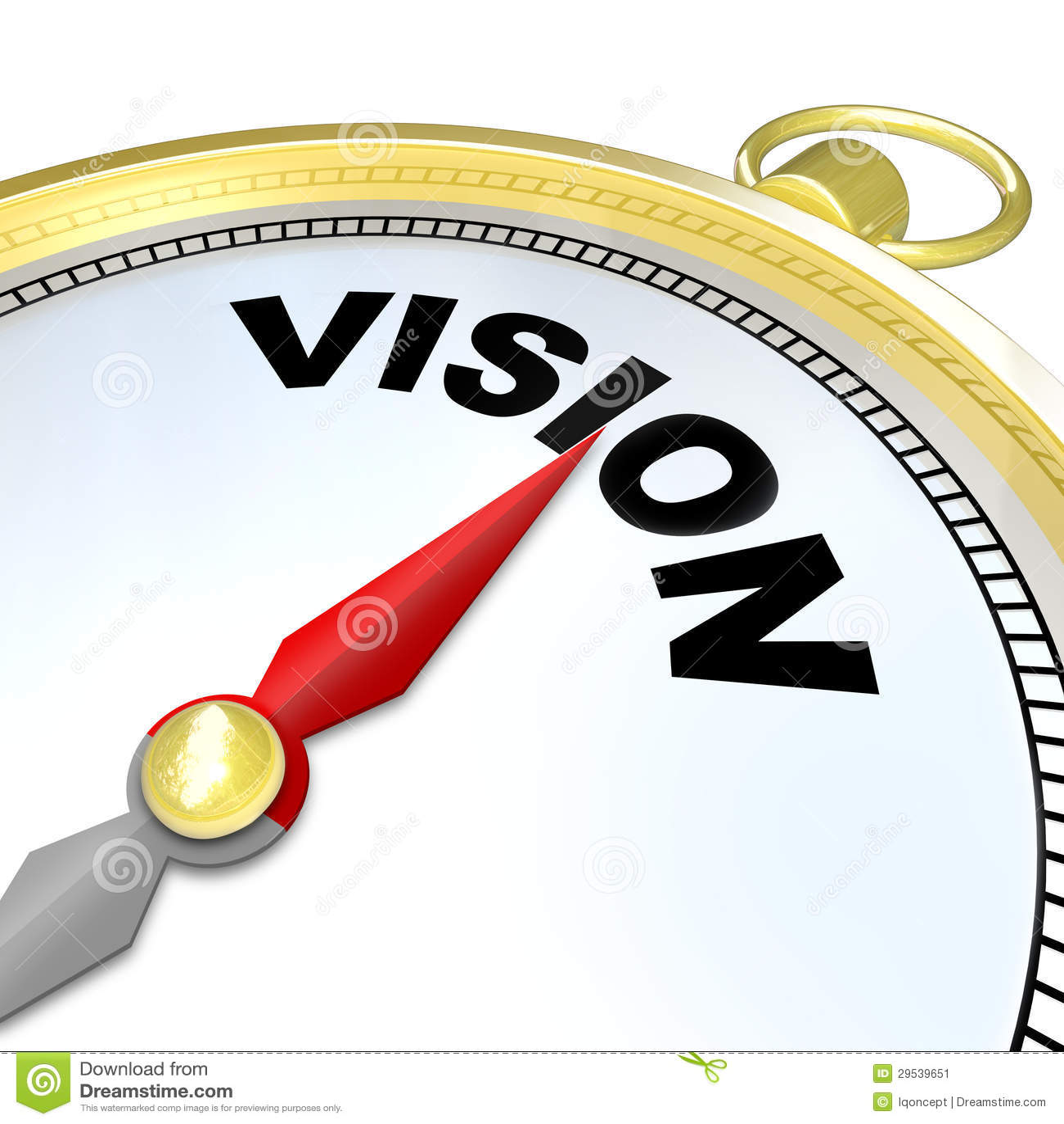 Palavra da visão na estratégia do sentido do plano do compasso do ouro
