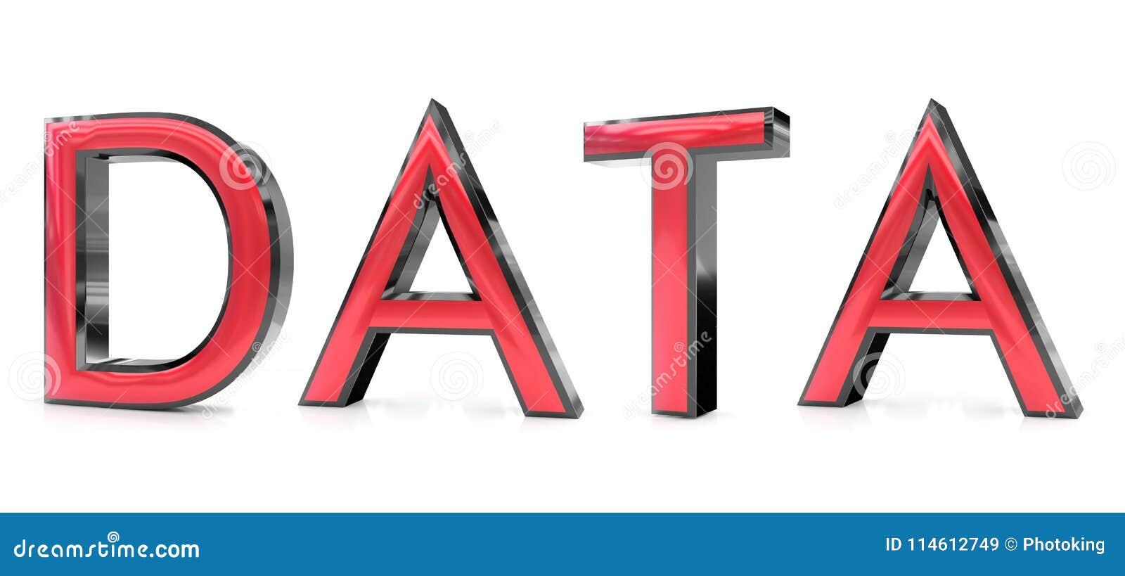 Palavra dos dados 3d