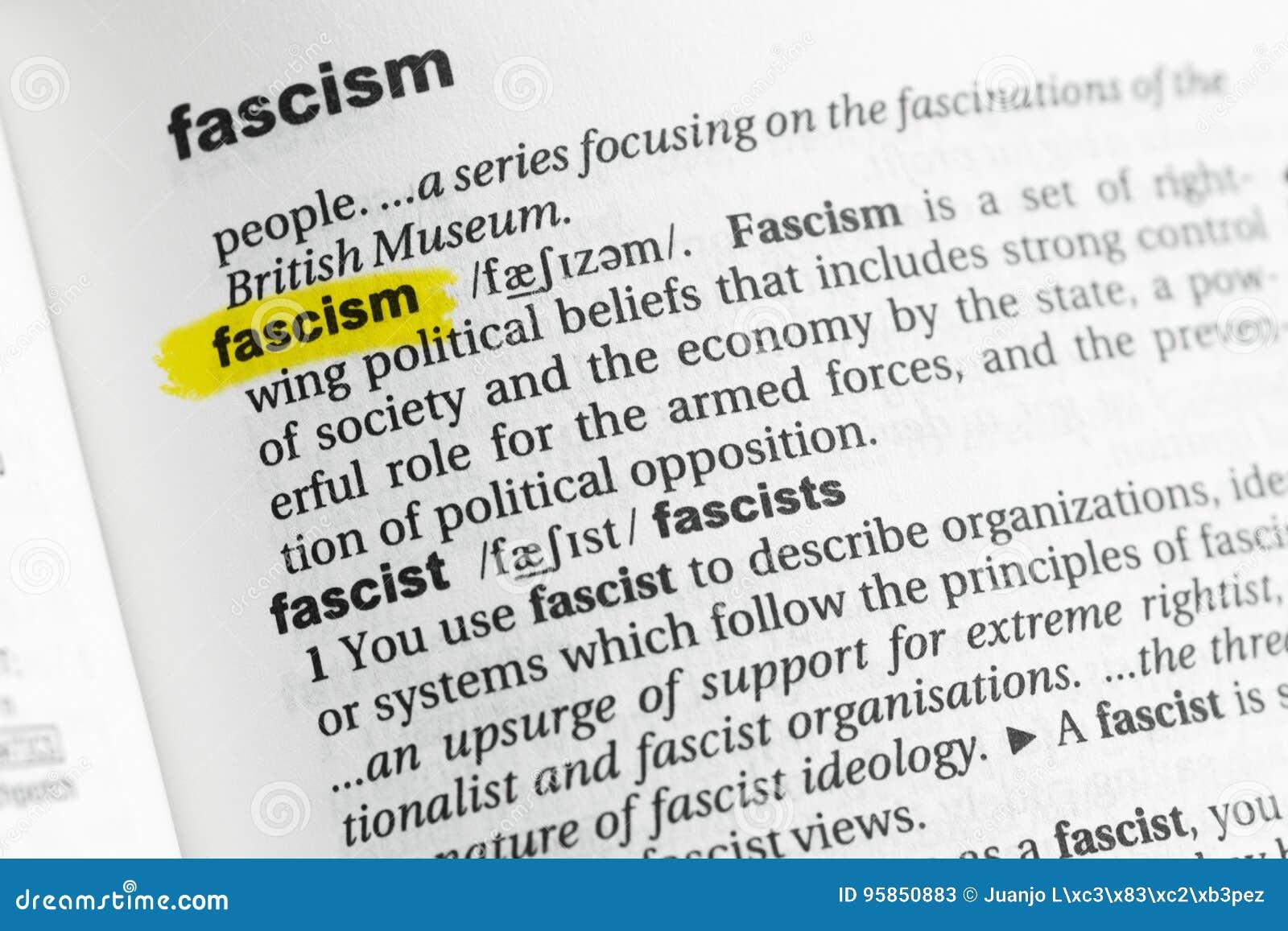 Palavra inglesa destacada & x22; fascism& x22; e sua definição no dicionário