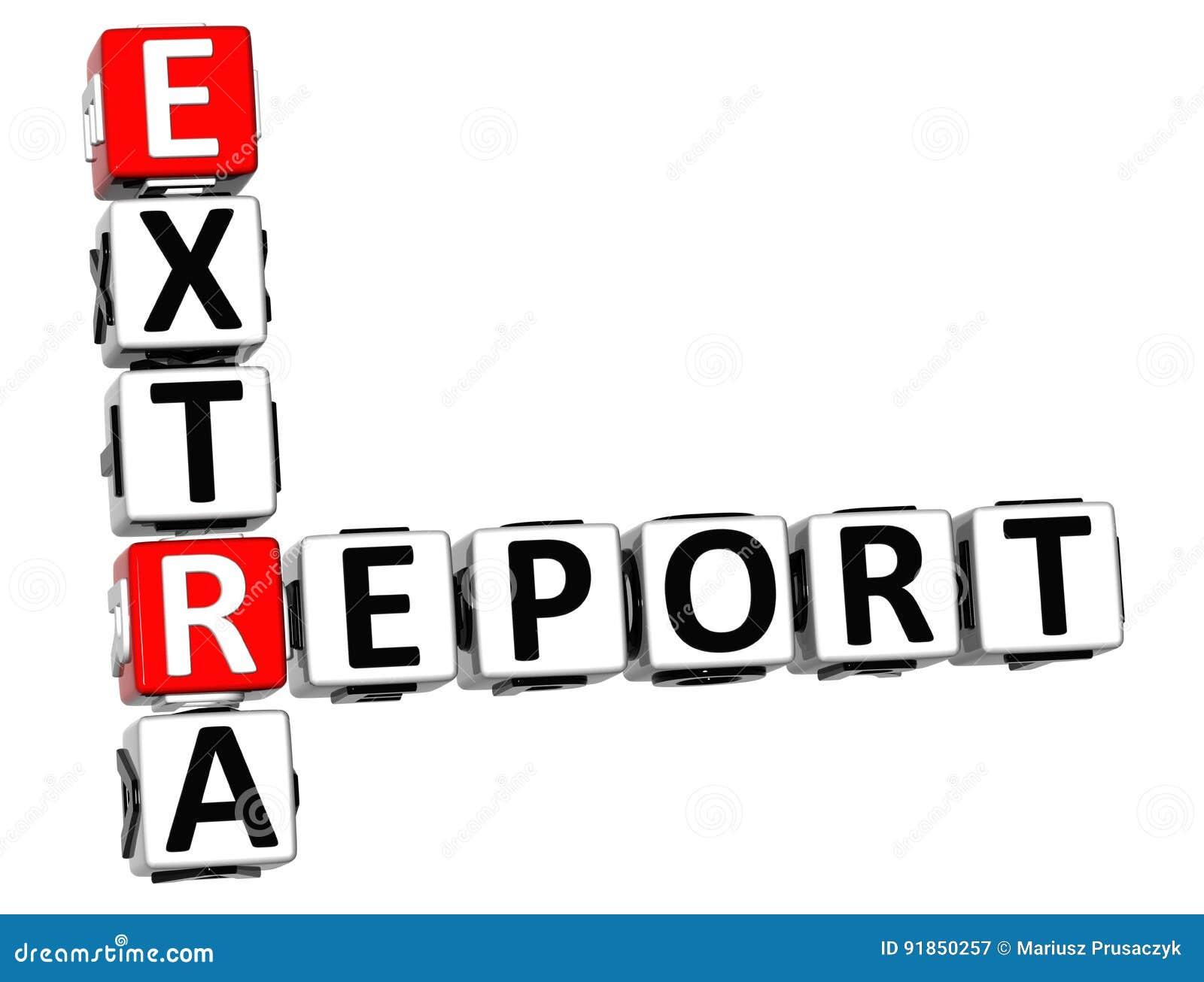 Palavras cruzadas extra do relatório 3D