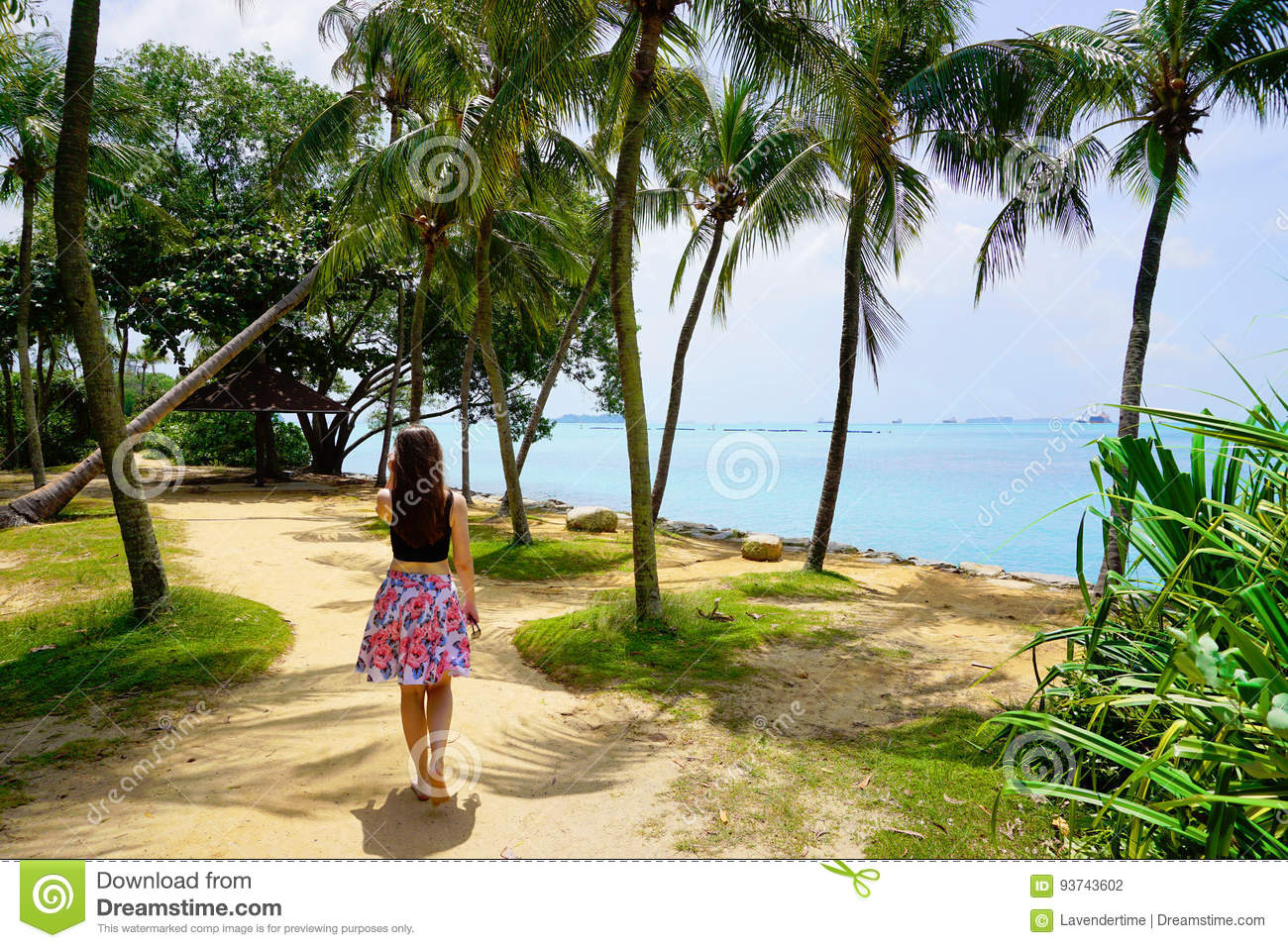 Palawan Beach Of Sentosa Island Stock Photo Image Of Relax