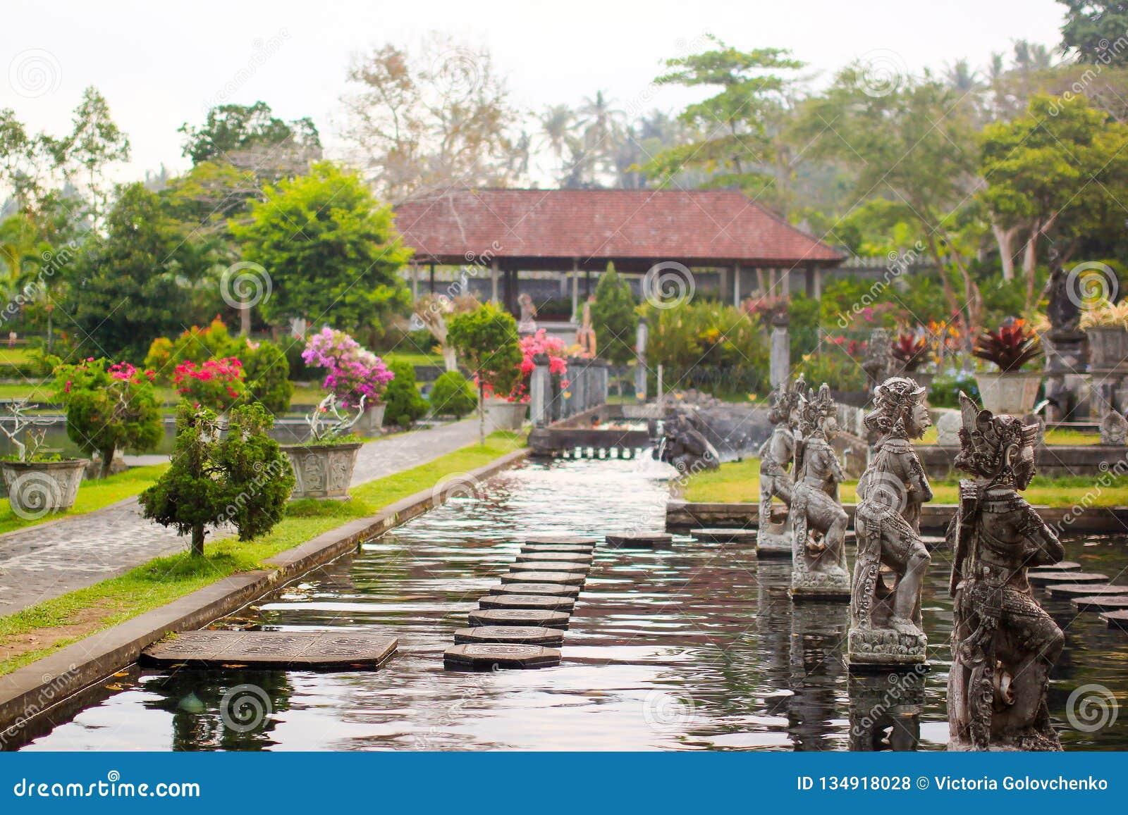 Palazzo dell acqua di Tirta Gangga in Bali orientale, Karangasem, Indonesia