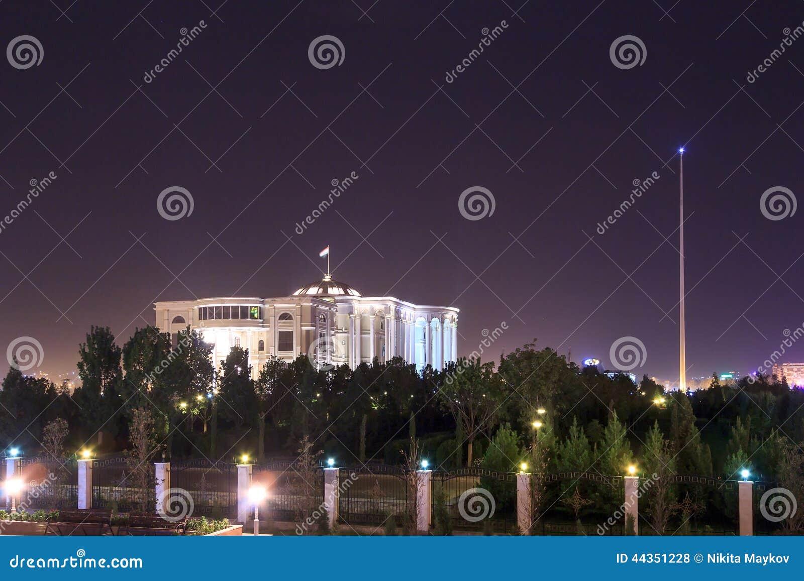 Palazzo della Repubblica alla notte Il Tagikistan, Dušanbe