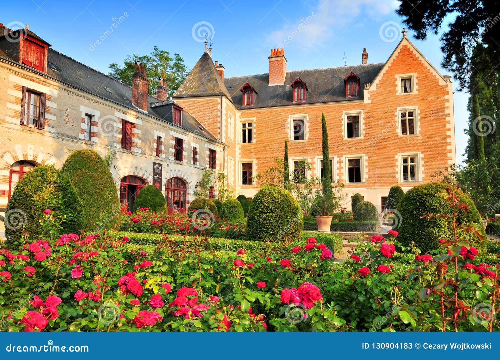 Palazzo di Clos Luce a Amboise Leonardo da Vinci ha vissuto qui per i tre anni ultimi della sua vita ed è morto, la Francia
