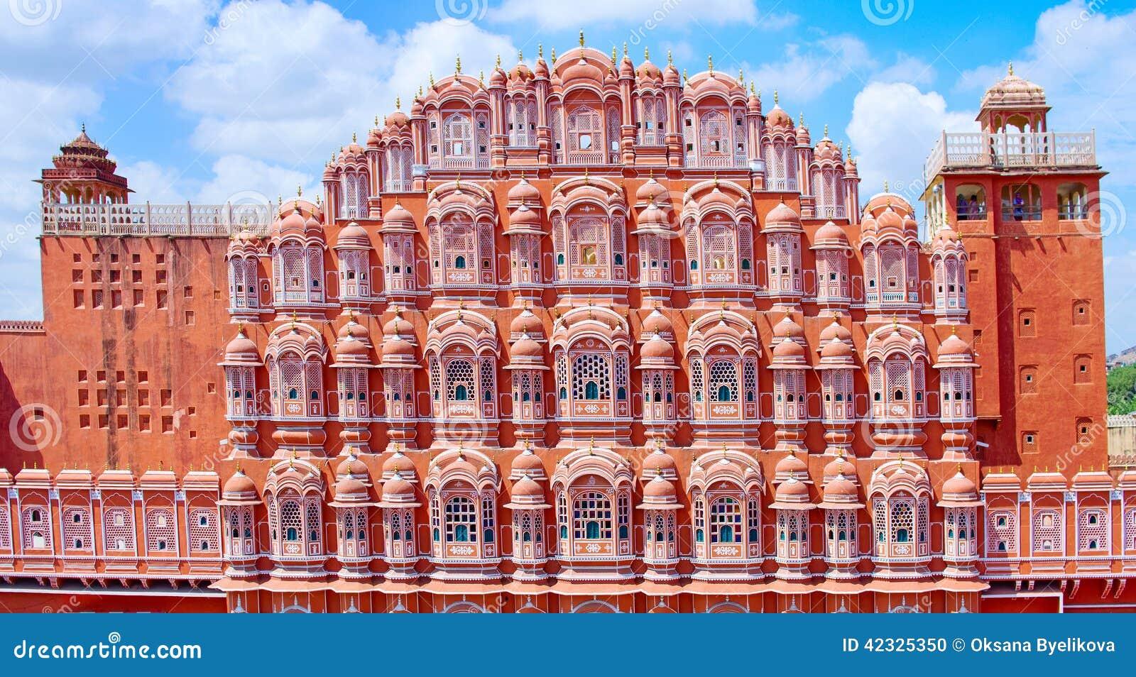 Palazzo di Hawa Mahal (palazzo dei venti) a Jaipur, Ragiastan