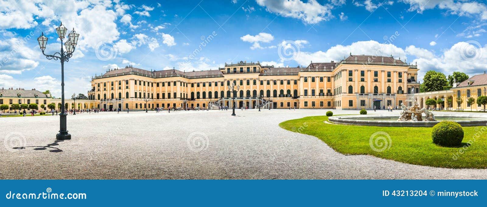 Palazzo di Schonbrunn all entrata principale a Vienna, Austria