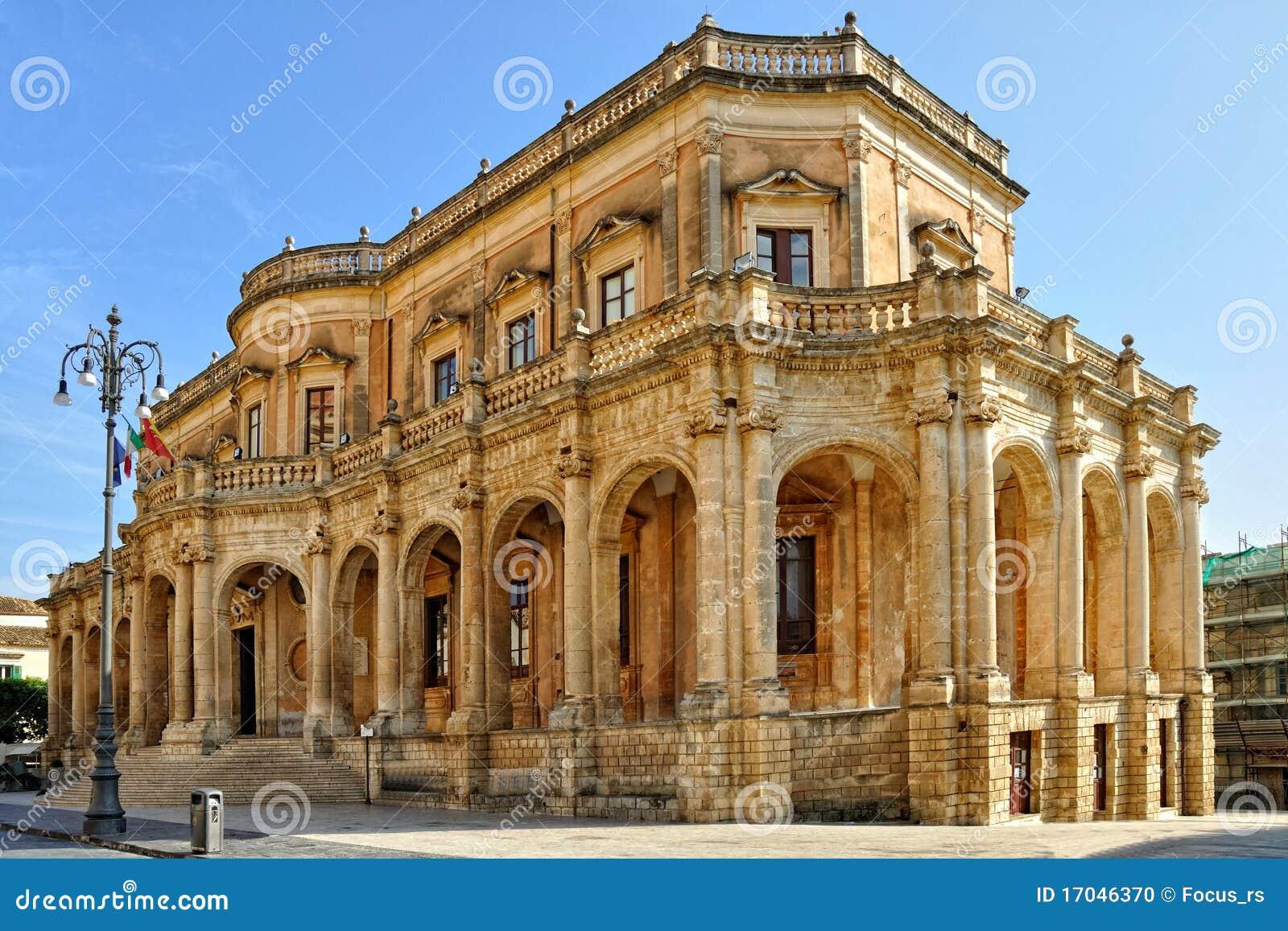 Palazzo Ducezio Stock Photo Image Of Ducezio Blue