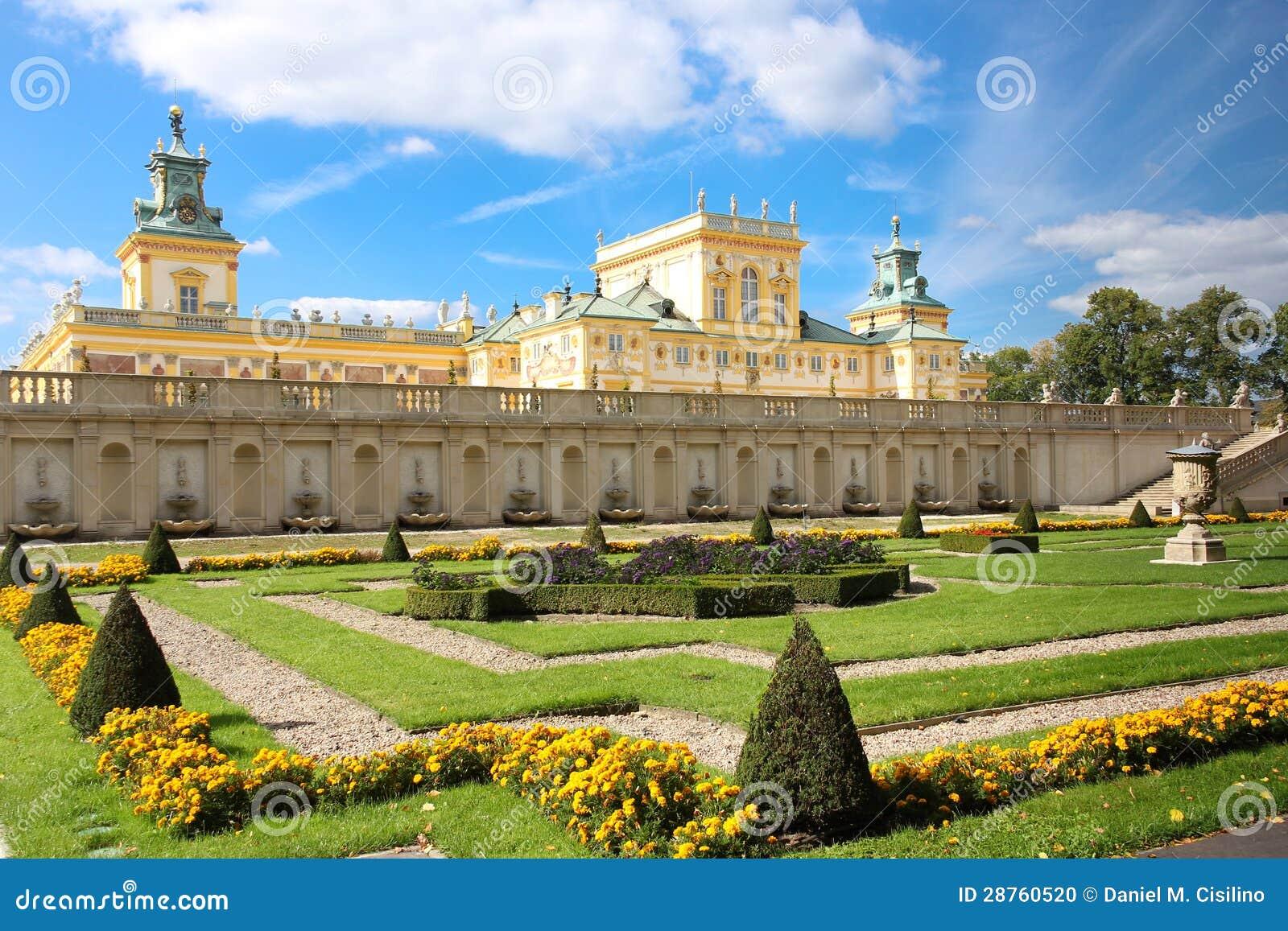 Palazzo giardini di wilanow varsavia la polonia fotografia stock immagine 28760520 - I giardini di palazzo rucellai ...
