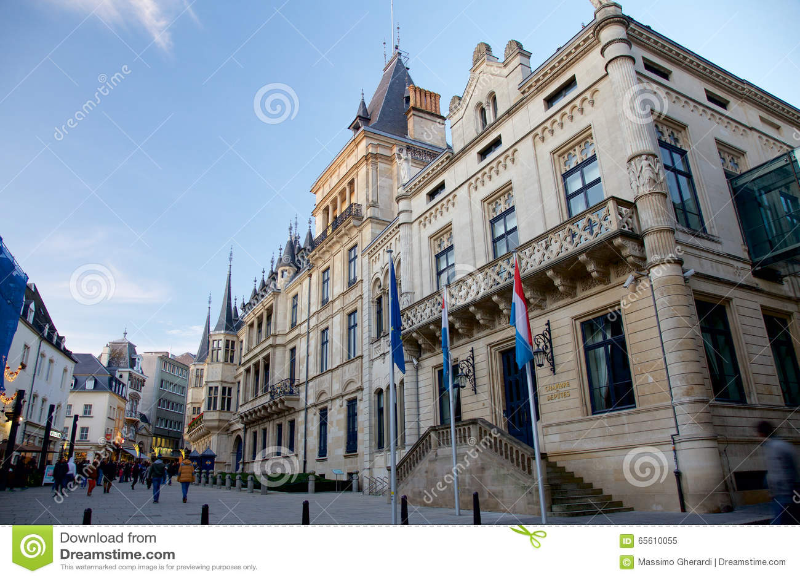 Palazzo granducale e la camera dei deputati a lussemburgo for Palazzo camera dei deputati