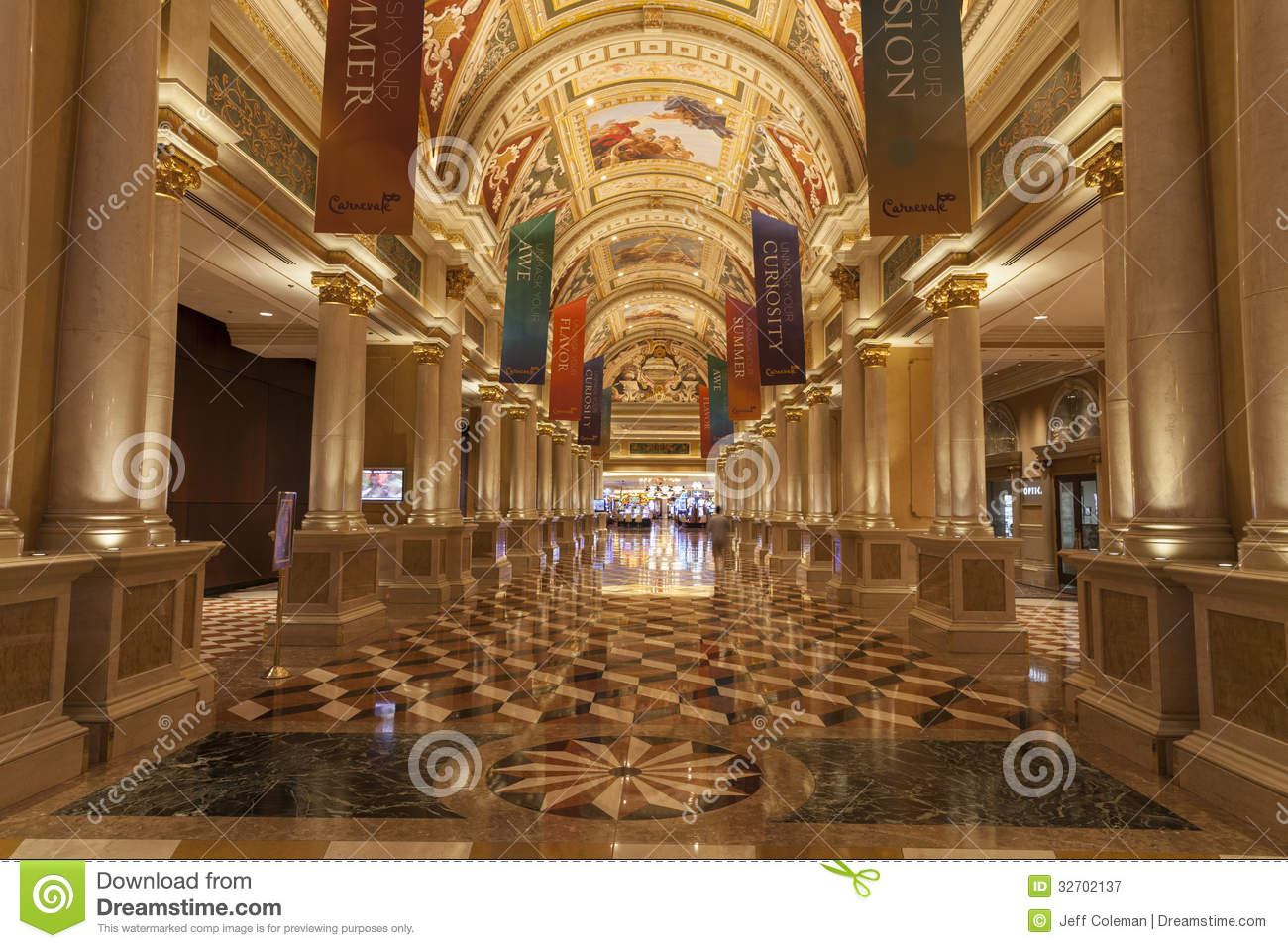 Palazzo hotel interior in las vegas nv on august 02 2013 for Creative design interior of nevada