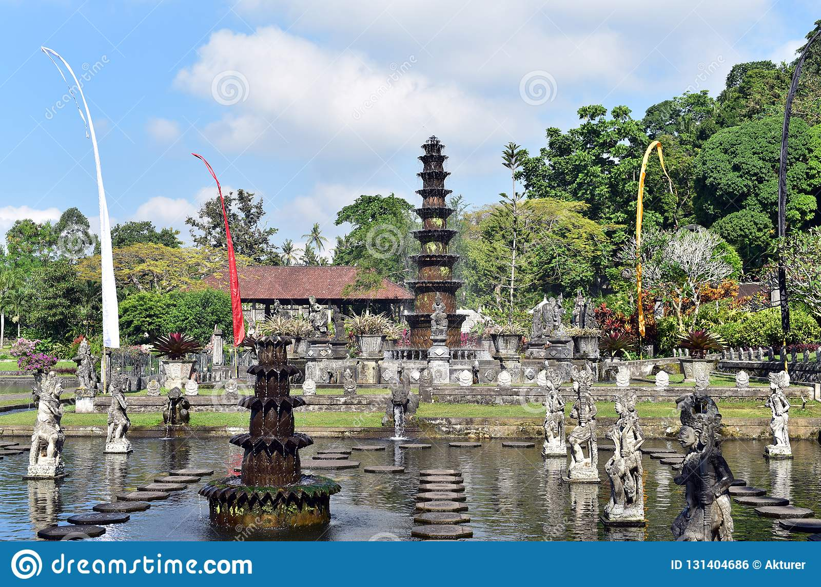 Palazzo indù Tirta Gangga, isola di Bali, Indonesia dell acqua di balinese