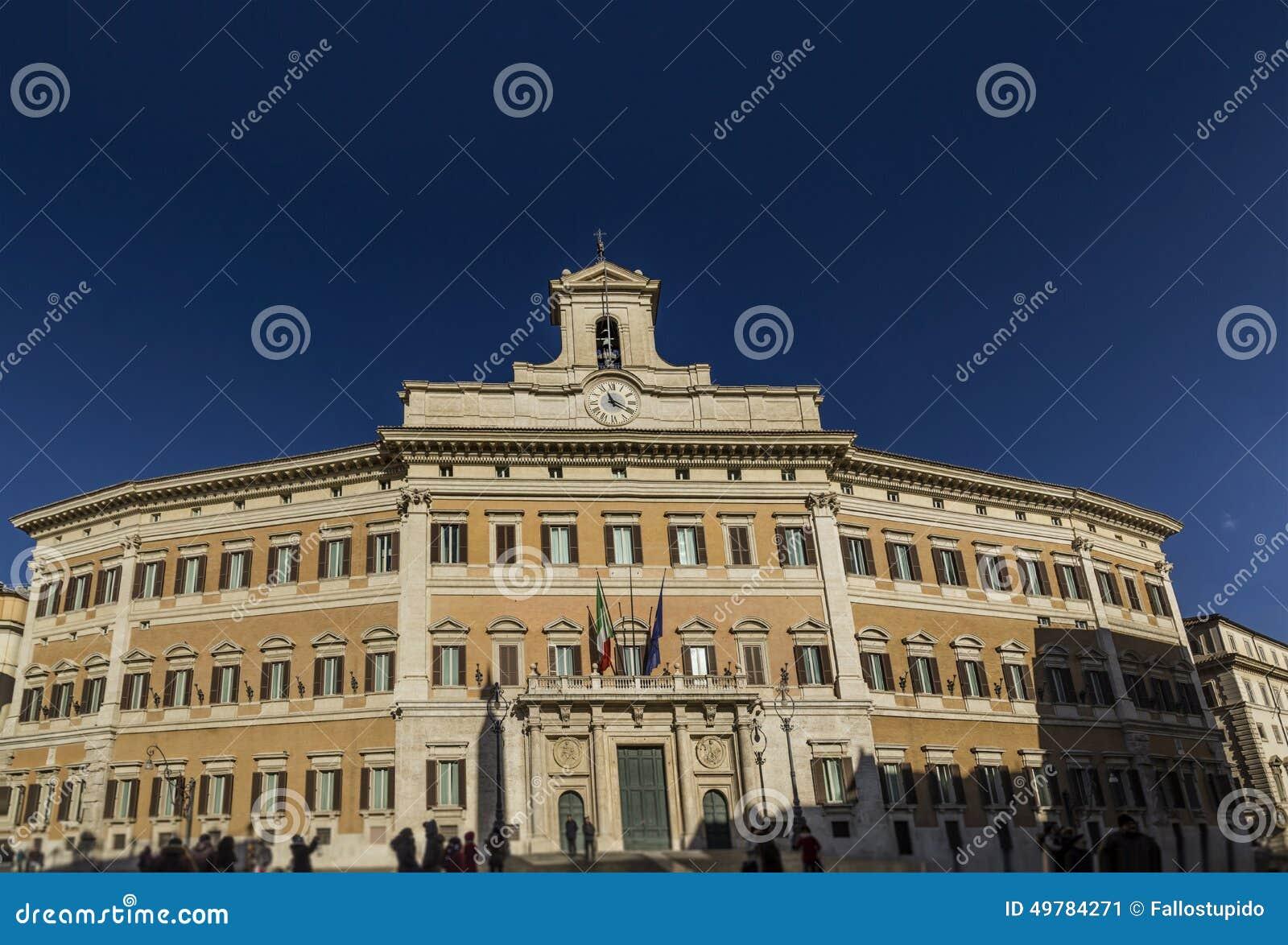 Palazzo italiano di roma del repubbliv del parlamento di for Roma parlamento