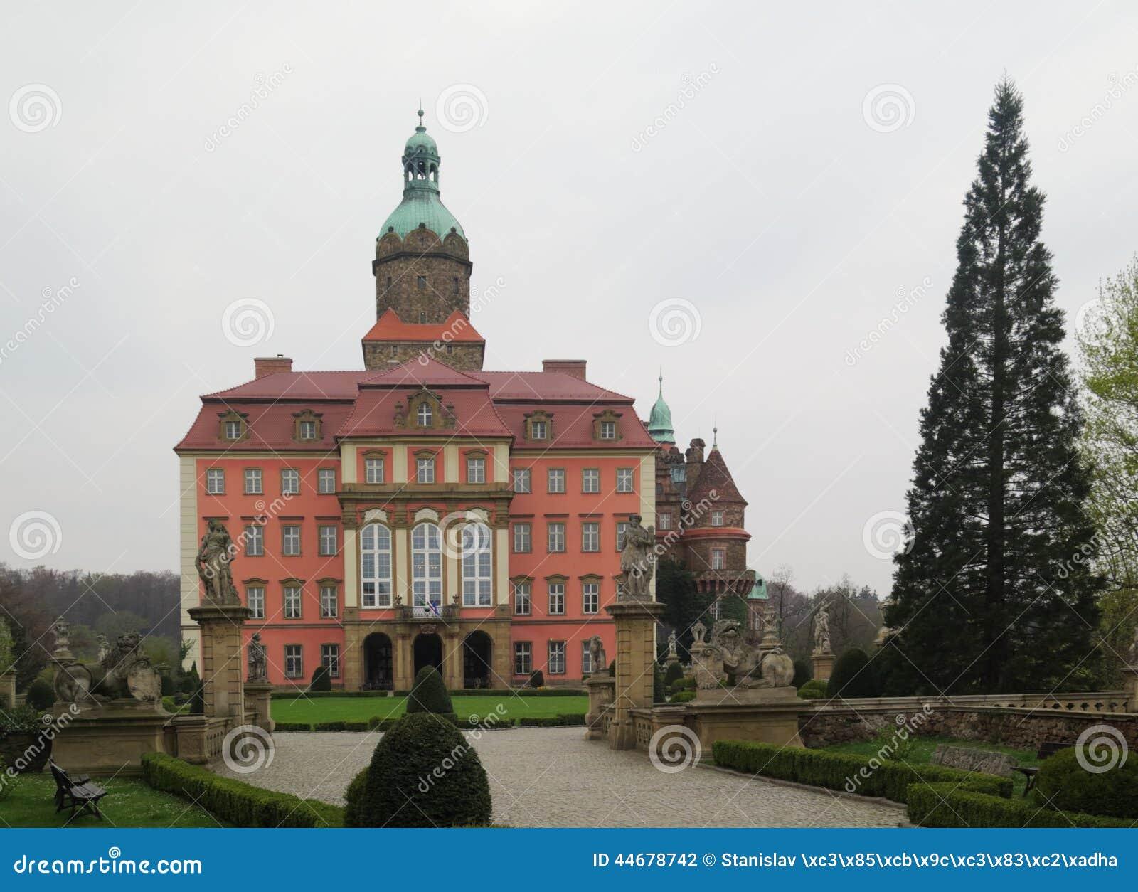 Voivodato Della Slesia Polonia palazzo ksiaz (furstenstein) - fortifichi in walbrzych nel