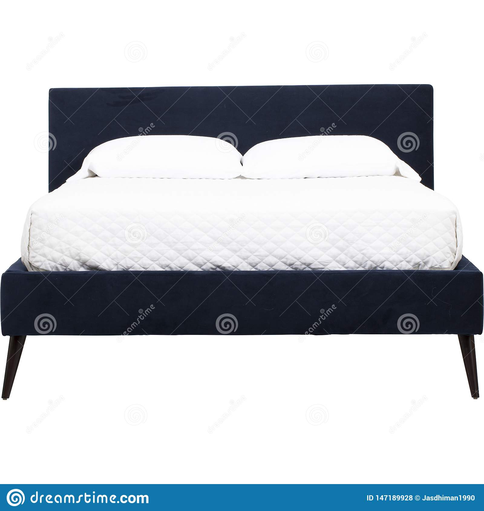 Picture of: Palazzo Queen Size Bed With White Mattress Low Profile Bed Frame Low Profile Queen Tufted Bed Frame King With White Background Stock Photo Image Of Classic Delicate 147189928