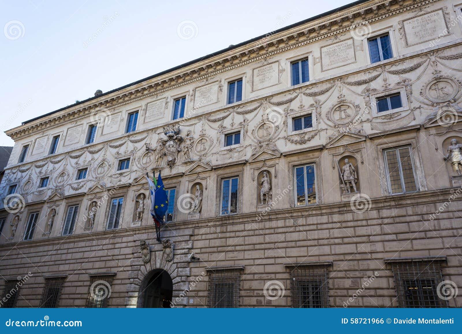 Palazzo spada rome stock photo image 58721966 for Stucco facade