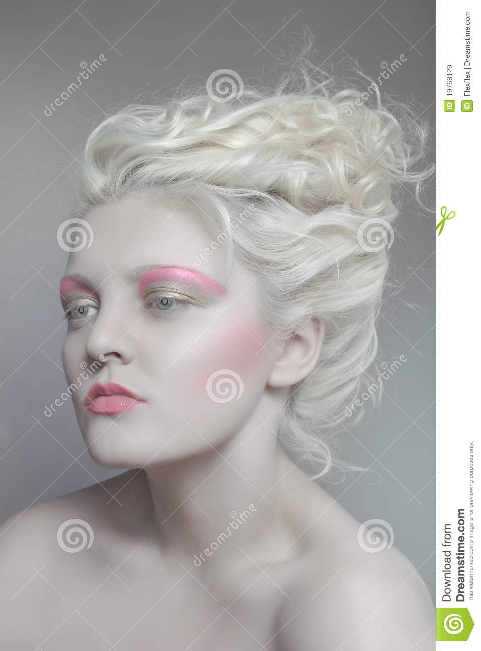 Pale Beauty Portrait Of Blond Woman Stock Image