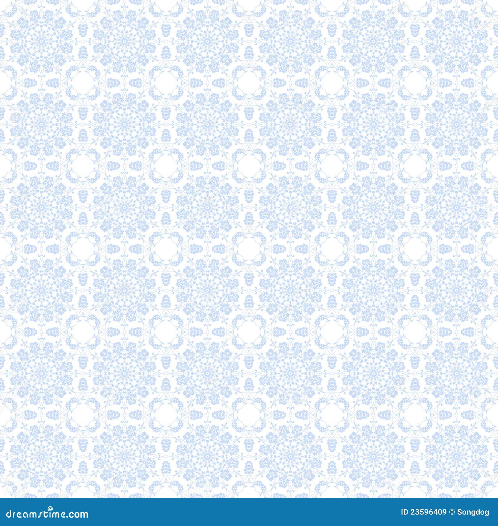 Pale Blue Kaleidoscope Background Stock Illustration