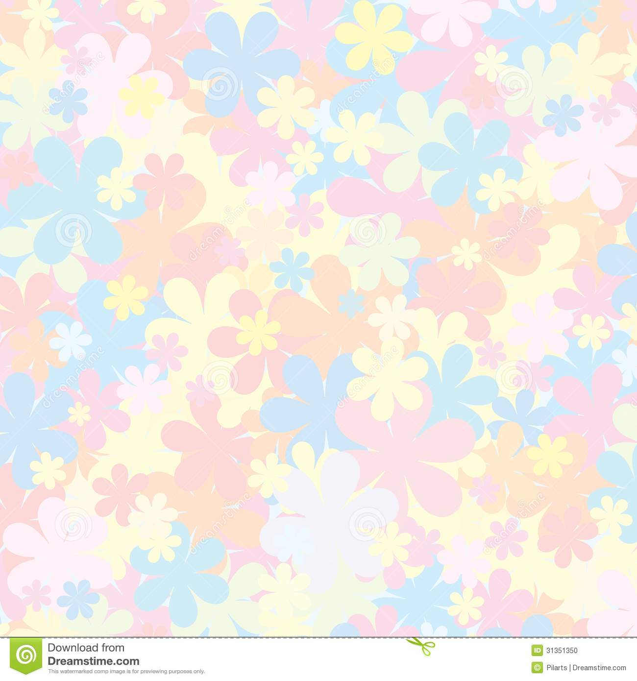 pale floral pattern pastel backdropfor for design stock vector
