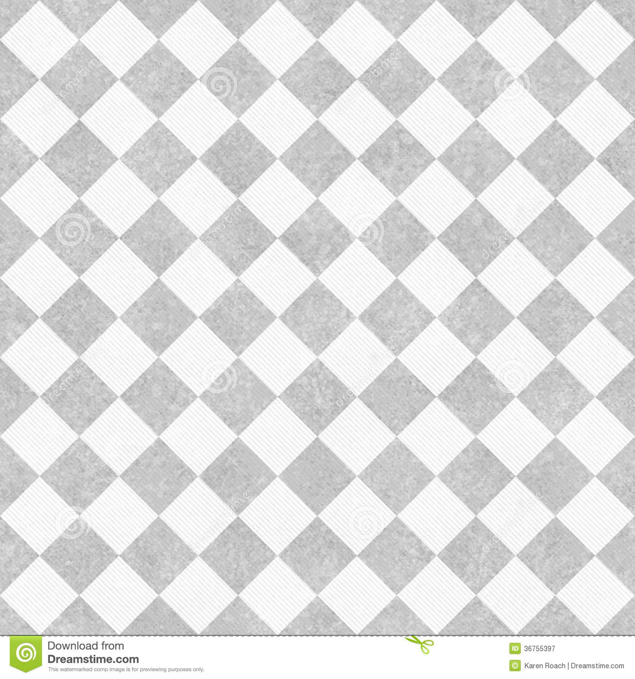 Pale Gray And White Diagonal Checkers On Textured Fabric