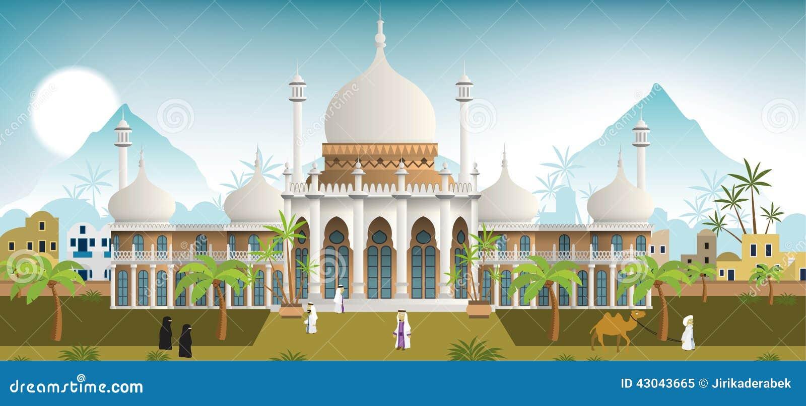 Paleis in de Arabische stad