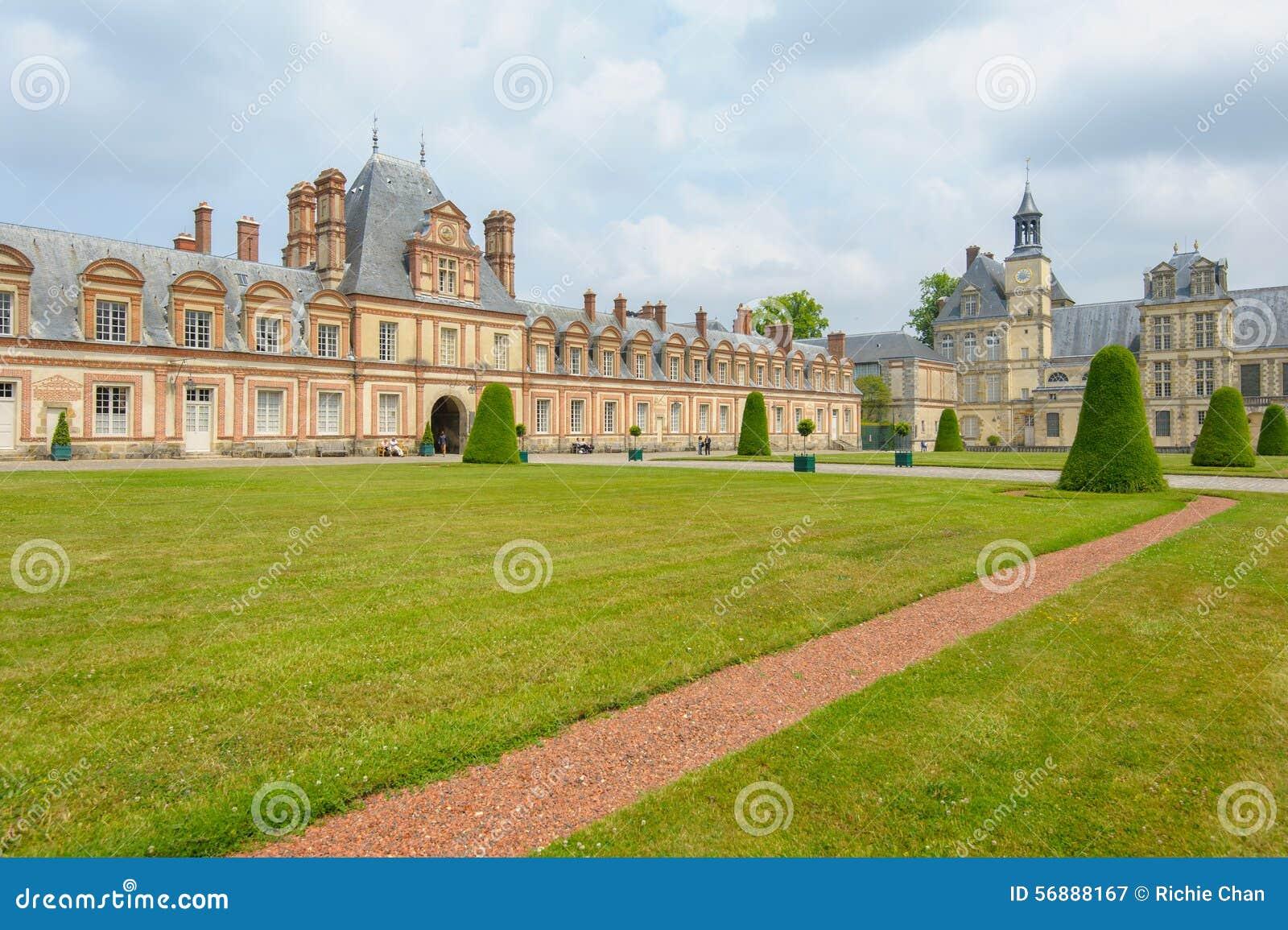 Paleis van Fontainebleau in Frankrijk