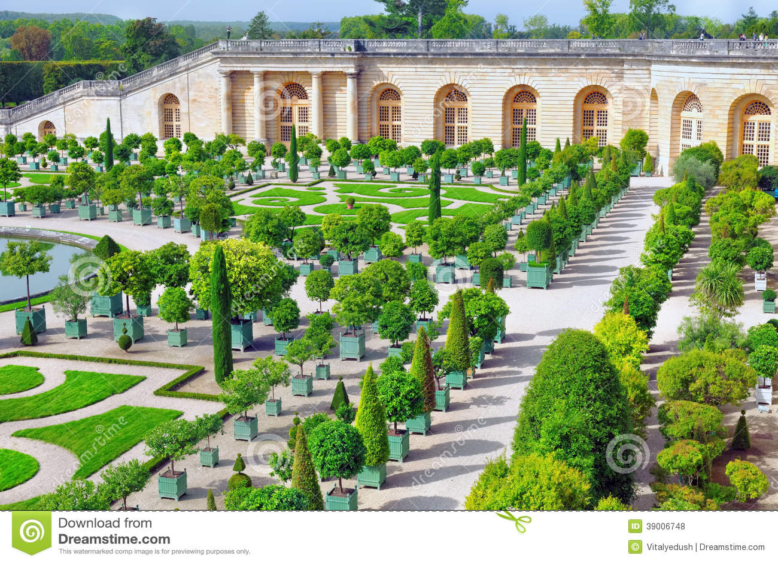 Paleis versailles koninklijke oranjerie stock foto afbeelding 39006748 - Tuin decoratie buitenkant ...