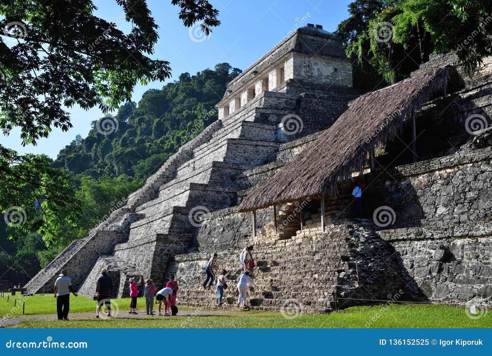 Palenque Tempel der Beschreibungen