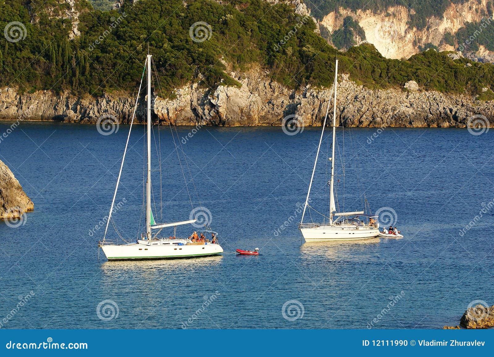 Paleokastritsa, isola Corfù, mare ionico, Grecia