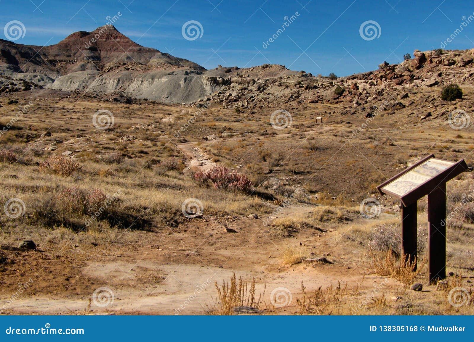 Paleontological περιοχή ανασκαφής στο Κολοράντο