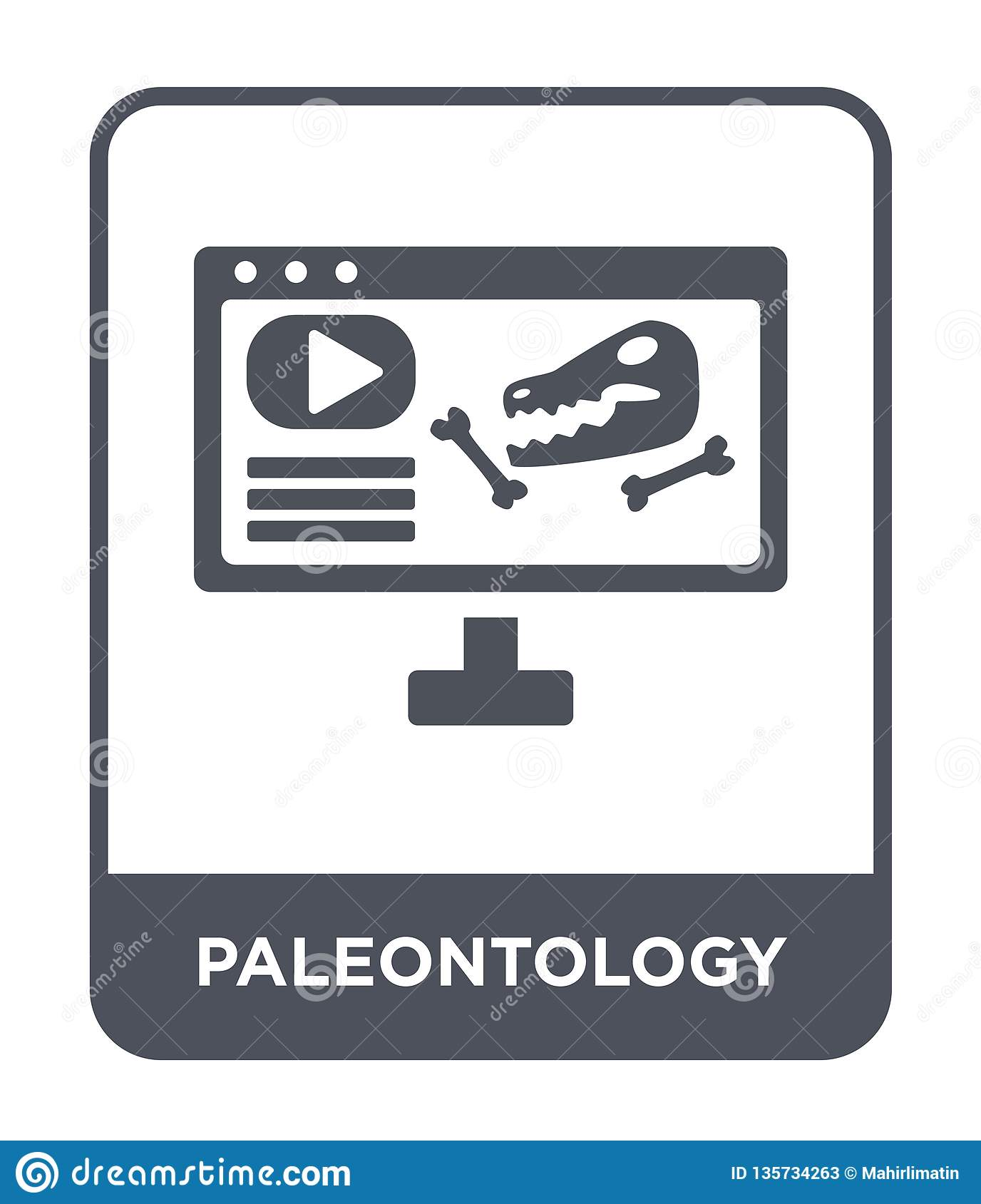 paleontology icon in trendy design style. paleontology icon isolated on white background. paleontology vector icon simple and