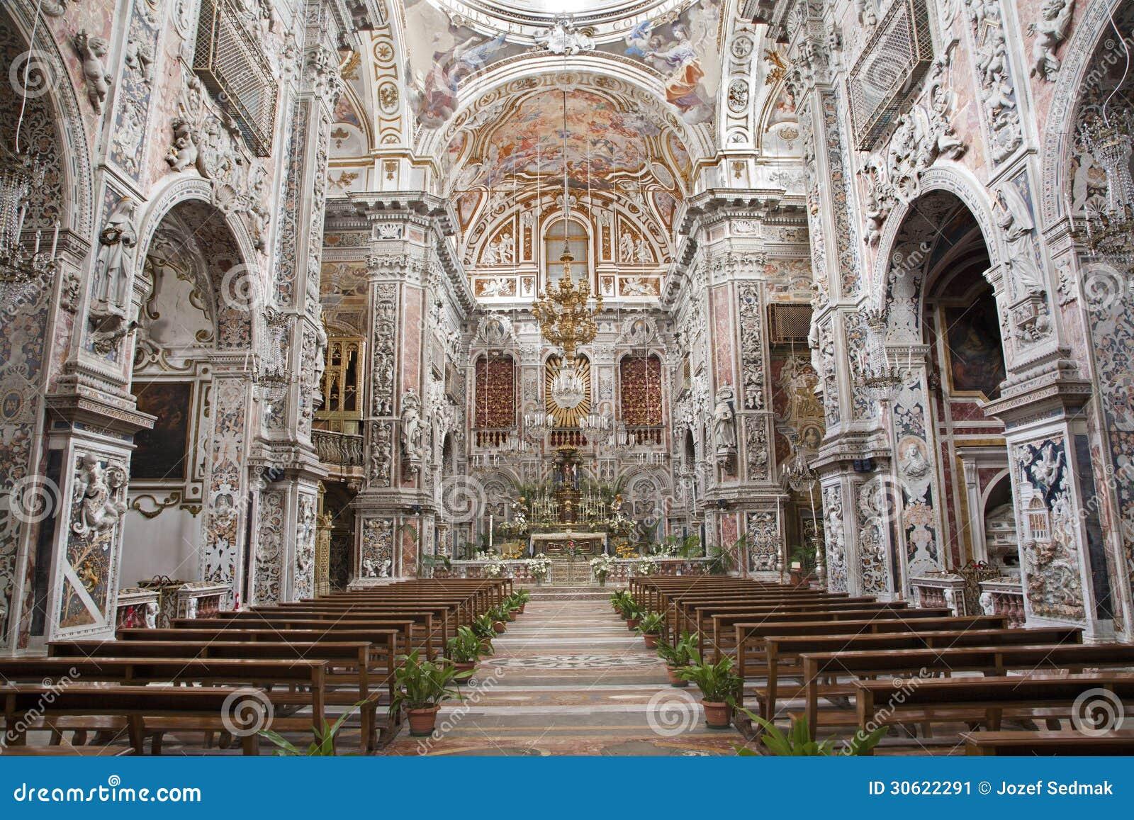 Palermo baroque church chiesa di santa caterina stock for Baroque italien