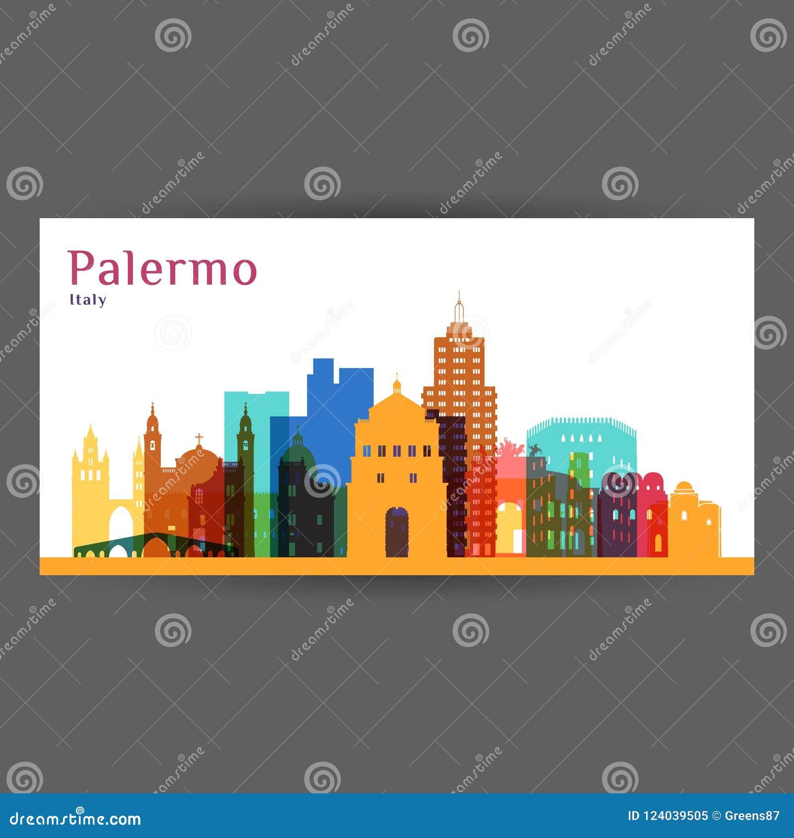 Palermo miasta architektury sylwetka