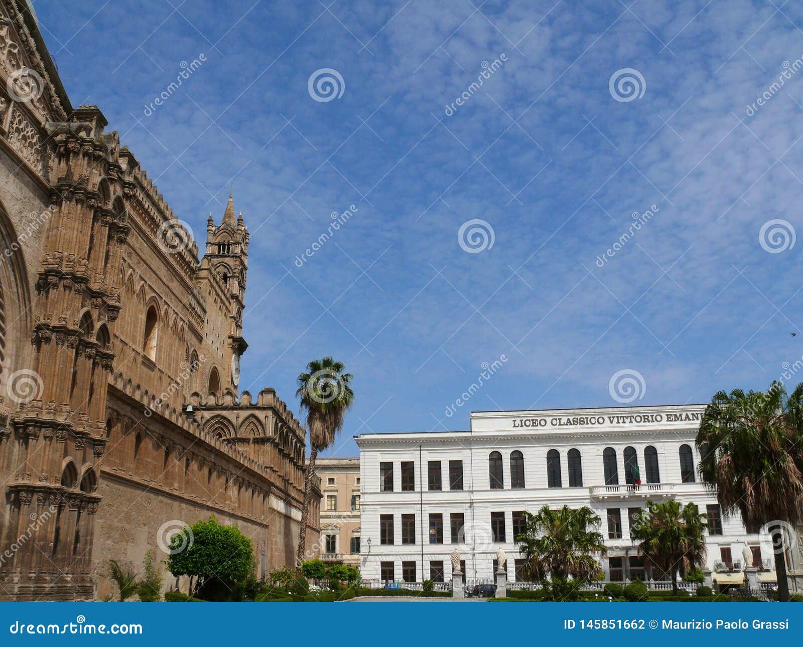 Palermo, Sicili?, Itali? 11/04/2010 Vittorio Emanuele II Schrijver uit de klassieke oudheid