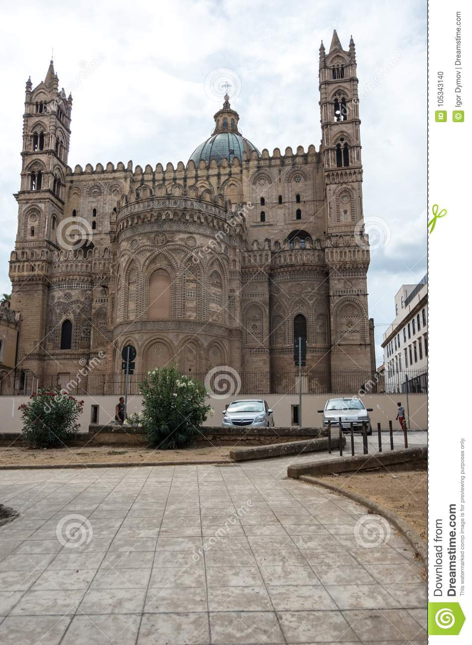 c5a0db1241 Palermo Cathedral Metropolitan Cathedral Of The Assumption Of V ...