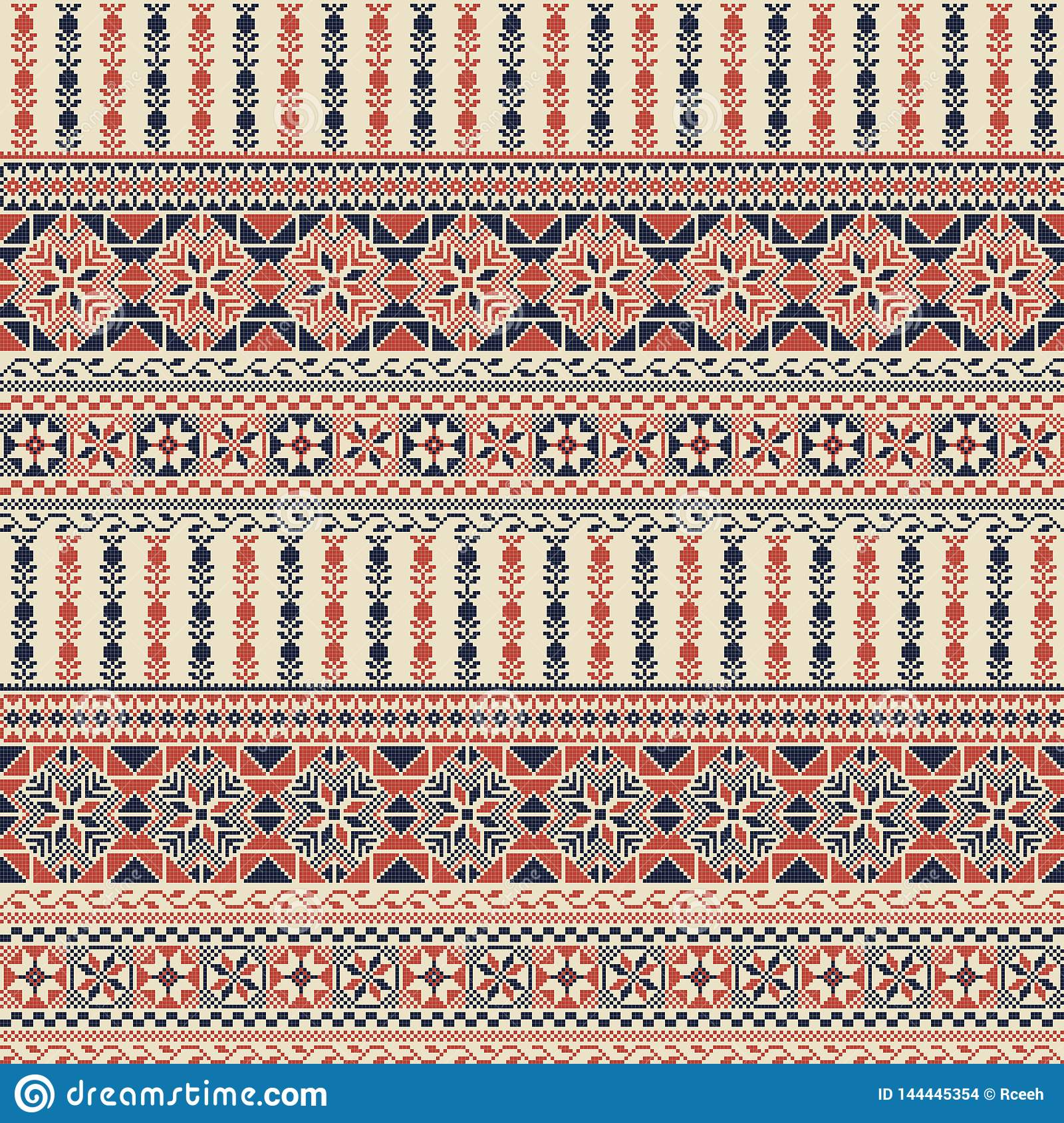 Palestinian embroidery pattern
