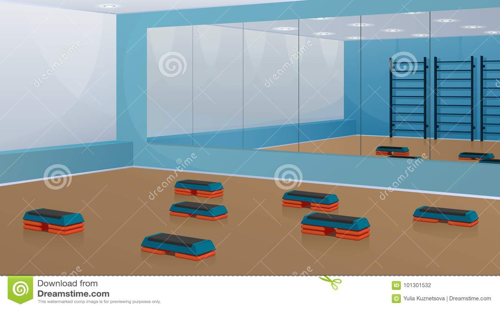 Specchi Per Palestra On Line palestra per forma fisica, con le punto-piattaforme sul