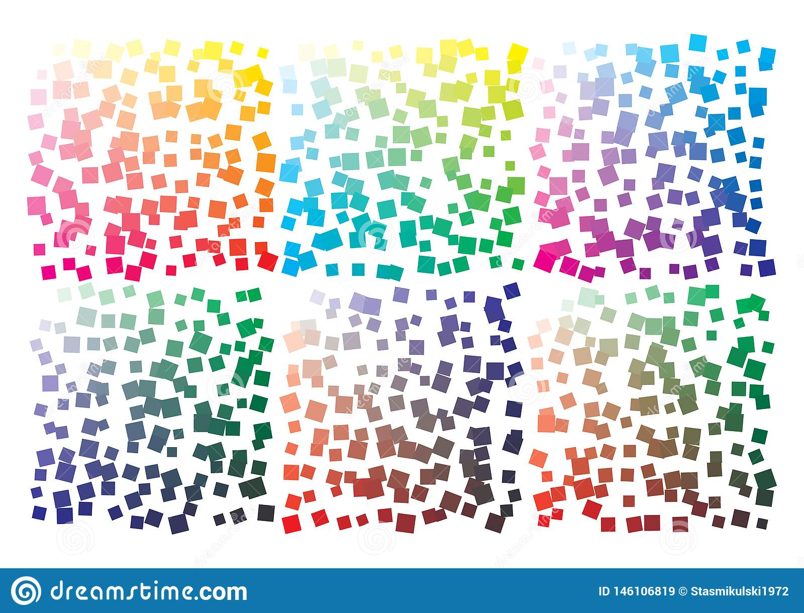 Paleta de colores del vector en el formato A4 Los detalles ca?tico dispersaron