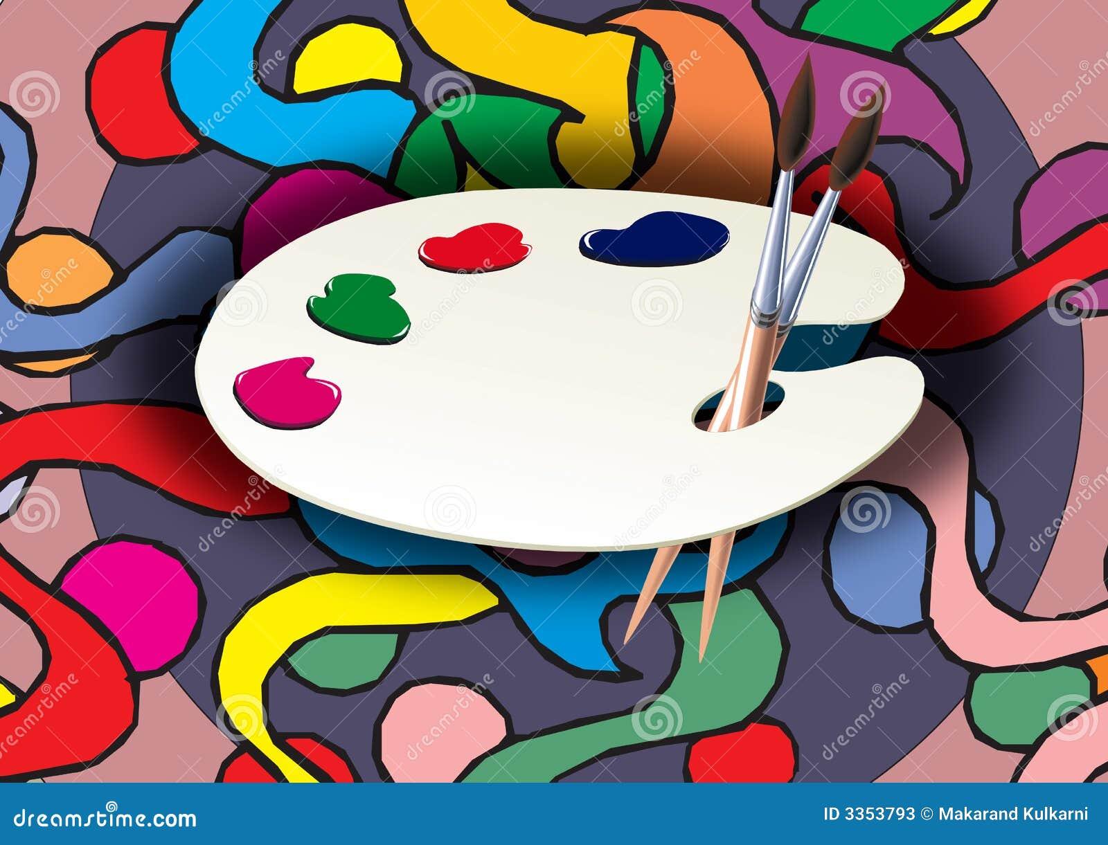 Paleta e pintura