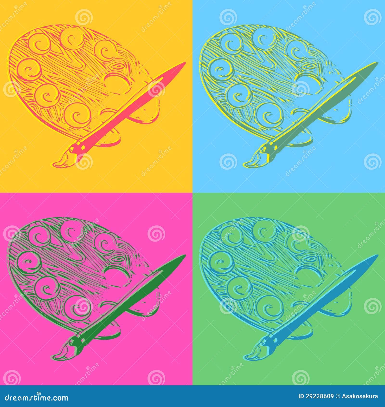 Download Paletas Retros Do Estilo Do Pop Art Ilustração do Vetor - Ilustração de denominado, garagem: 29228609