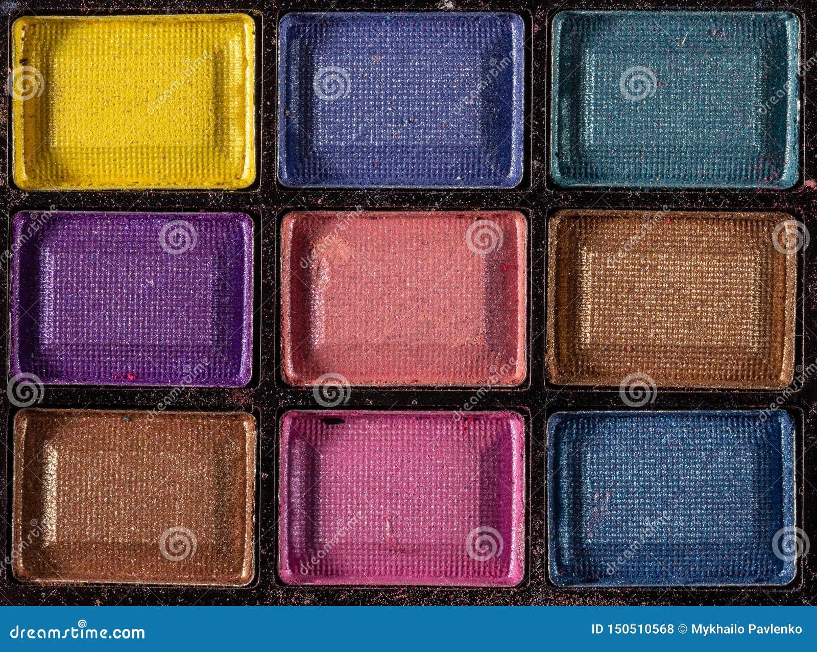Palette color?e d ombres d oeil Fond de maquillage Fin vers le haut