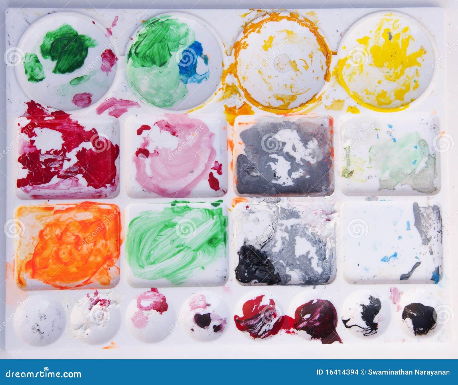 Palette de couleur de peinture images stock image 16414394 for Peinture palette de couleur