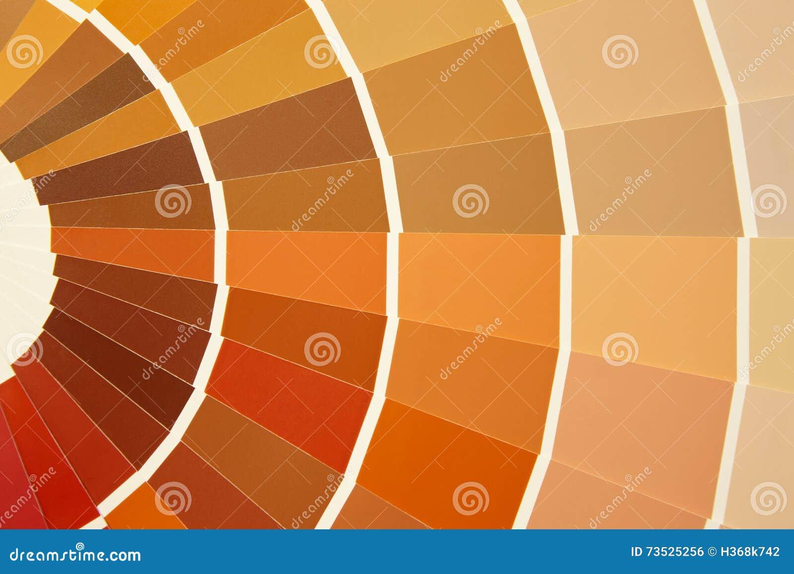 palette de couleurs de carte dans des tons chauds brun jaune orange photo stock image du. Black Bedroom Furniture Sets. Home Design Ideas