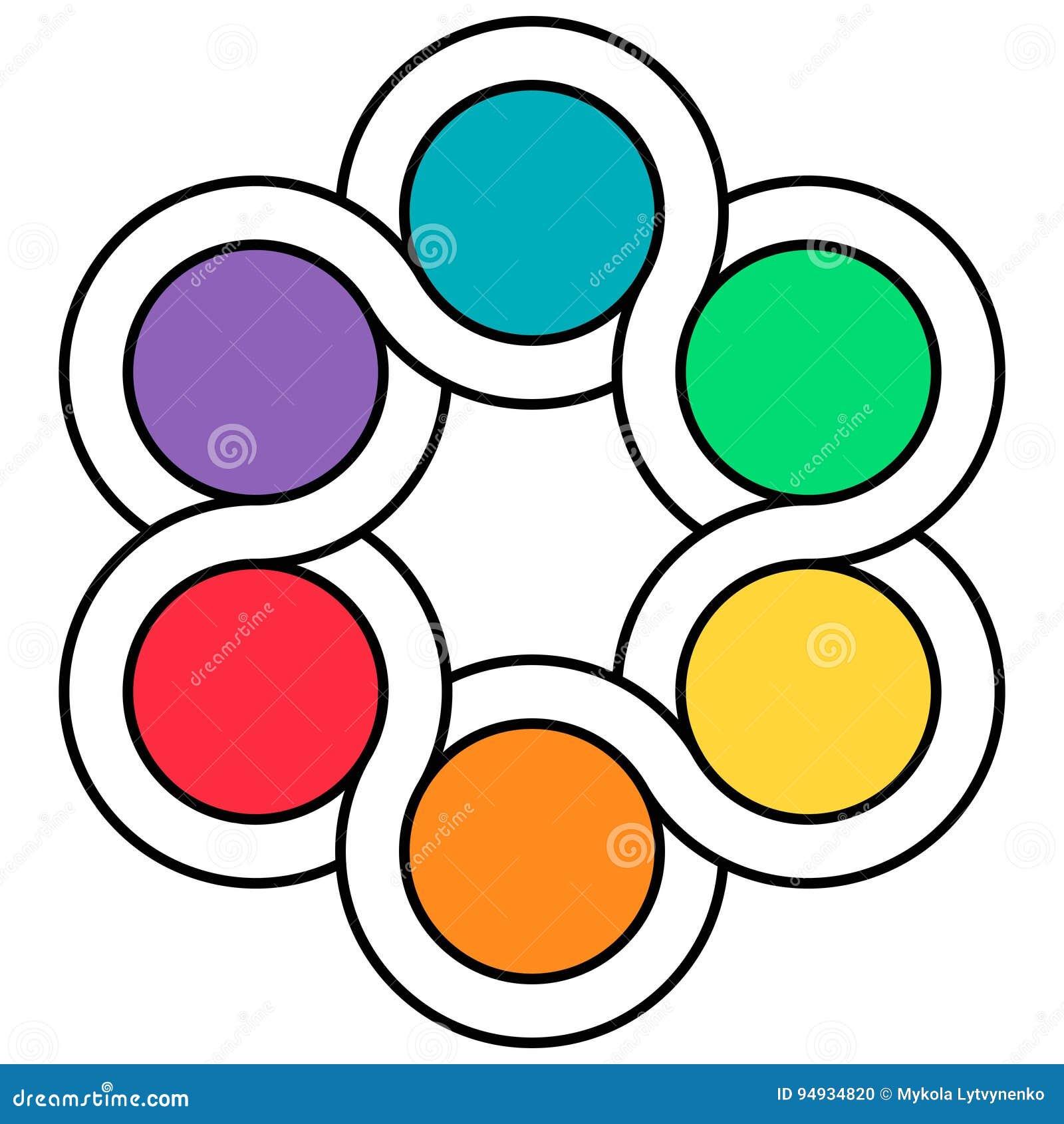 Palette De Logo De Couleurs Lentrelacement Des Circuits Du Fileur