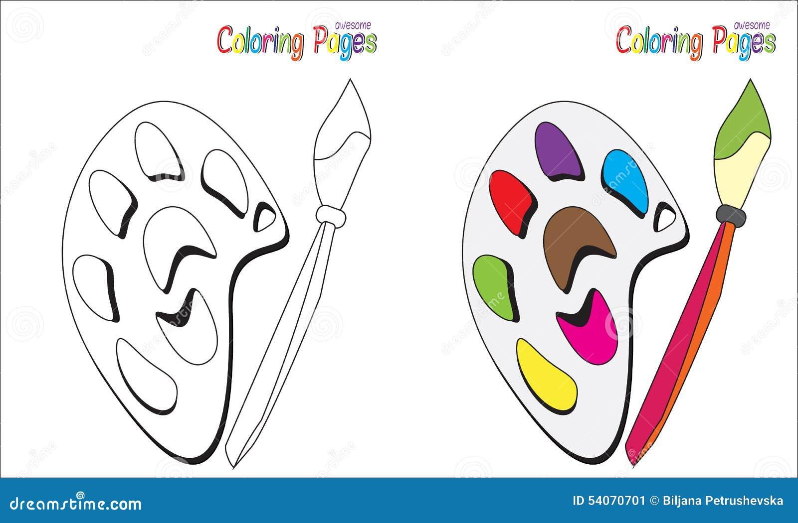 Palette De Page De Livre De Coloriage Illustration De Vecteur
