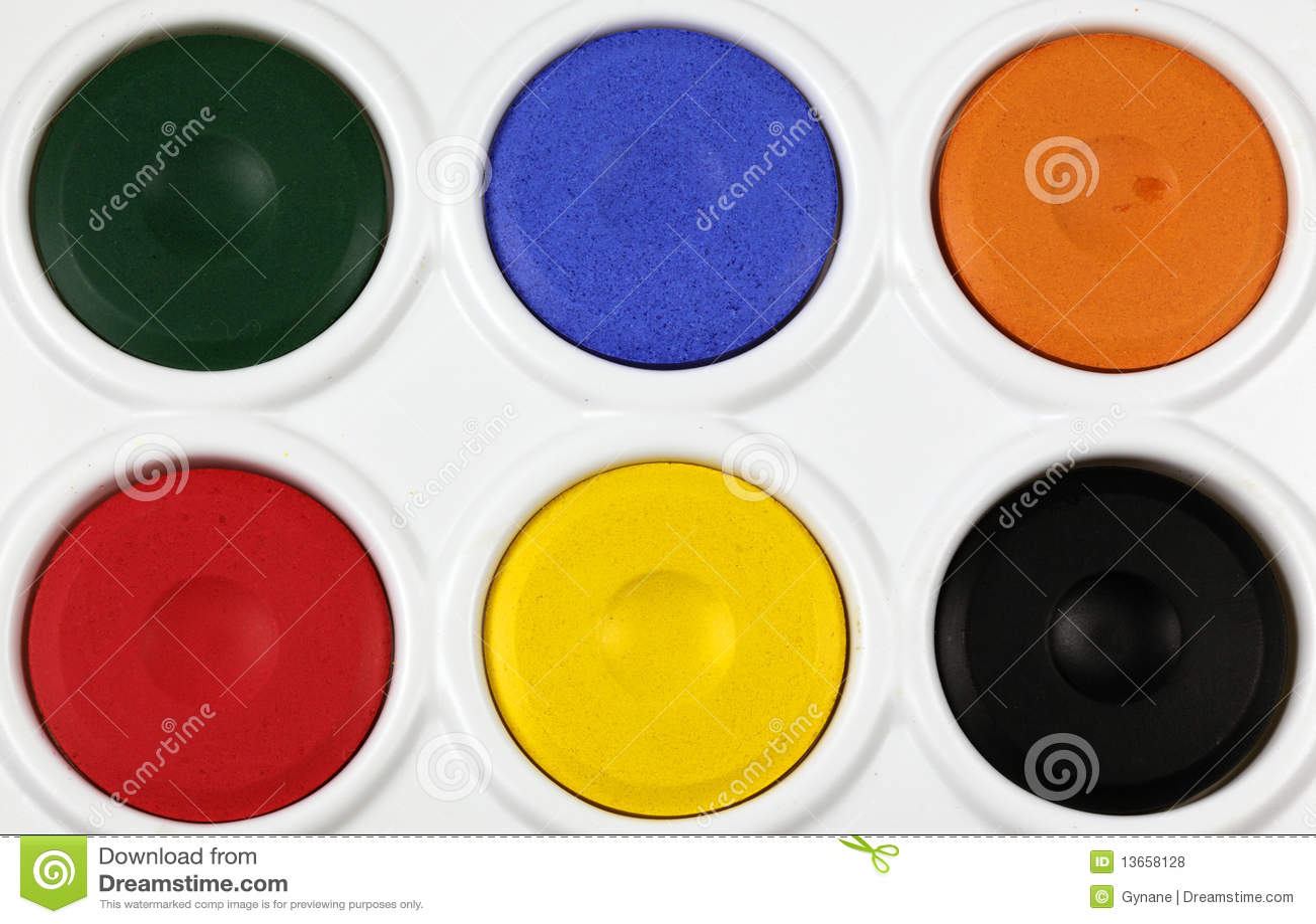 Palette de peinture de watercolour photos libres de droits for Peinture palette