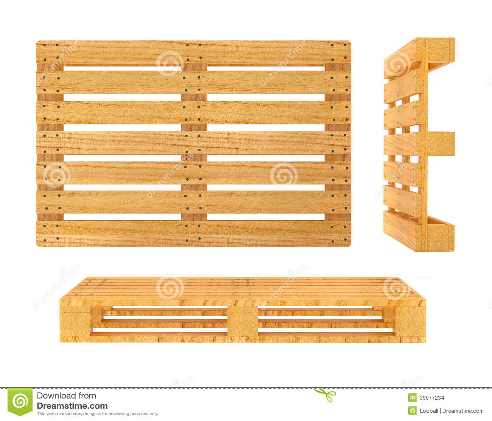 palette en bois d 39 isolement sur le fond blanc illustration stock image 39077234. Black Bedroom Furniture Sets. Home Design Ideas