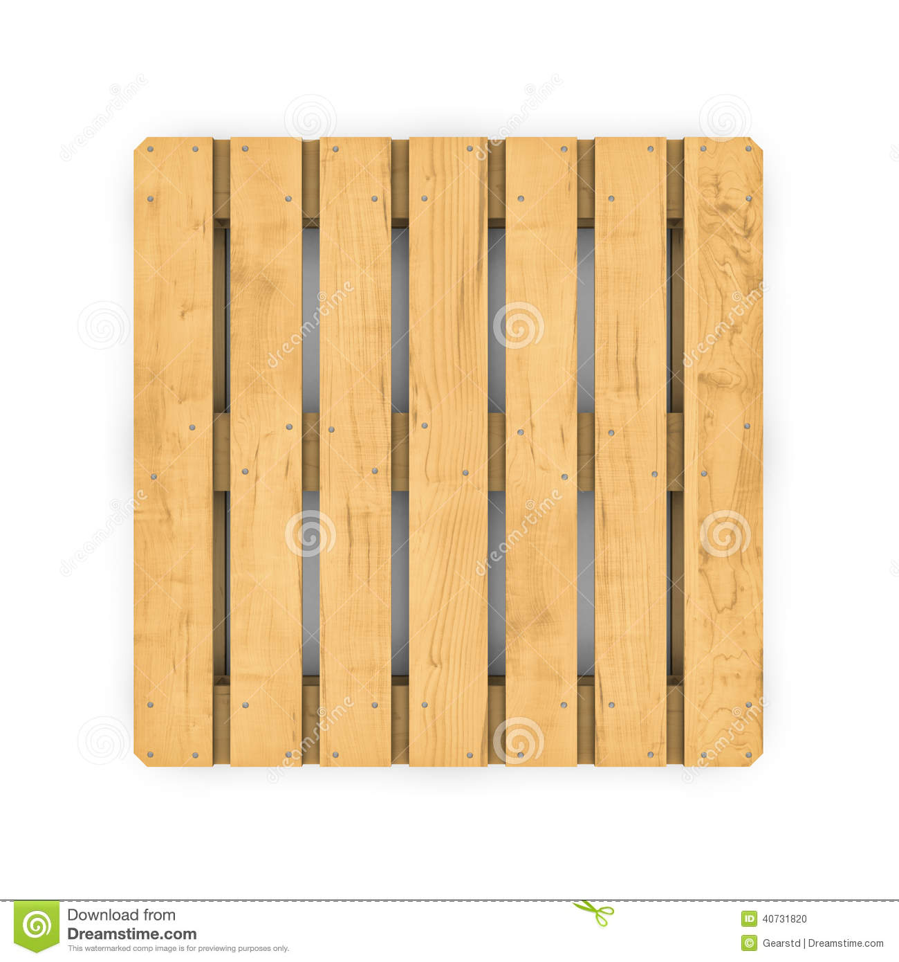 Palette En Bois D'isolement Sur Le Fond Blanc Illustration Stock Illustration du industrie  # Palette De Bois Gratuite