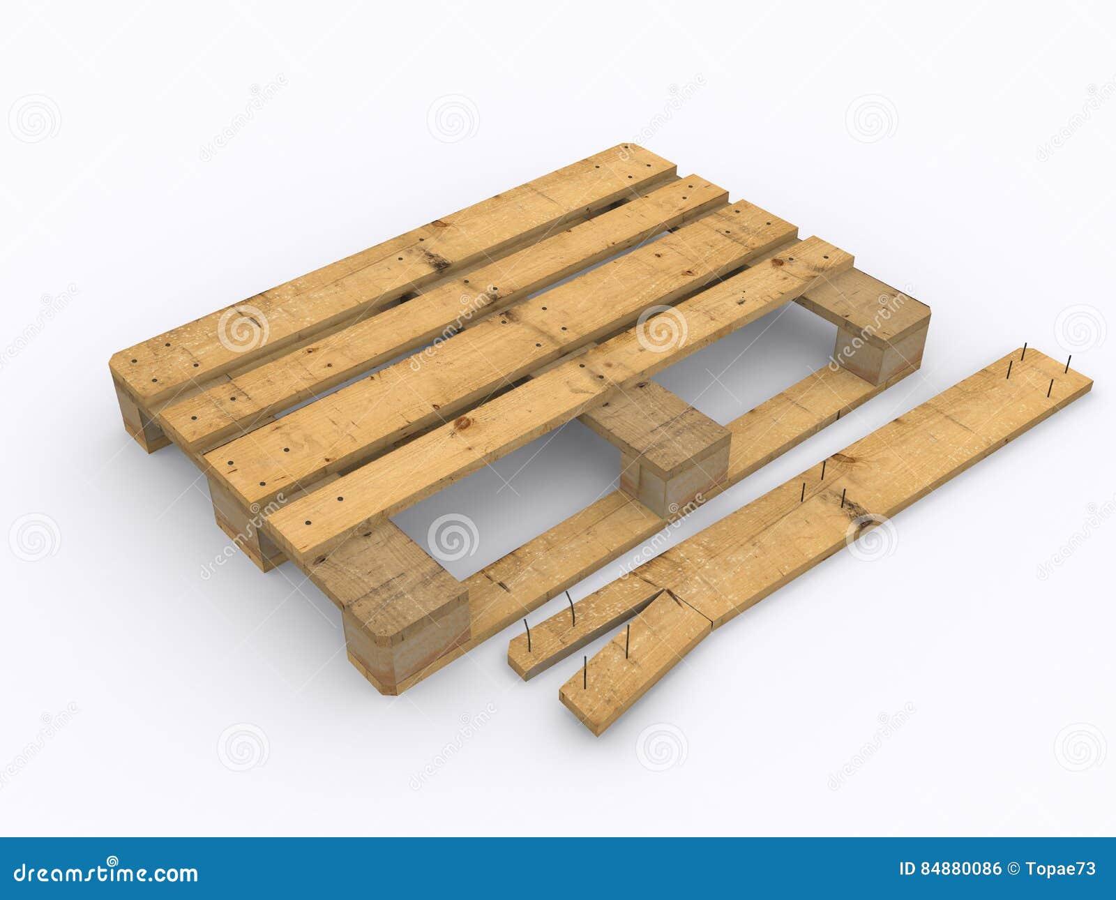 palette en bois endommag e illustration stock illustration du conteneur 84880086. Black Bedroom Furniture Sets. Home Design Ideas
